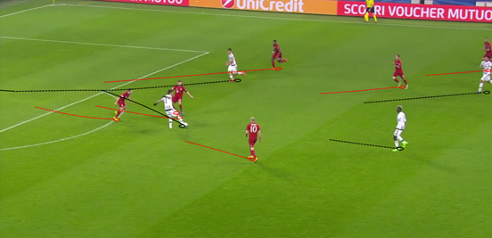 After a mistake from Kimmich,Mandžukić capitalised and set up Dybala to score the goal which narrowed Bayern's lead and piled the pressure on them.
