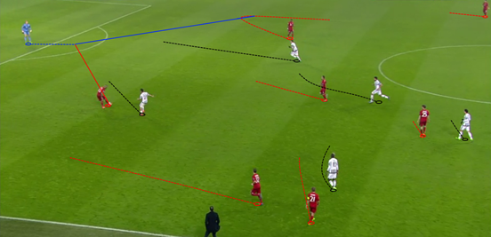 Dybala and Mandžukić pressed sporadically during the early phases of the second-half, but without the support of the midfielders it was very easy for Bayern to bypass it.