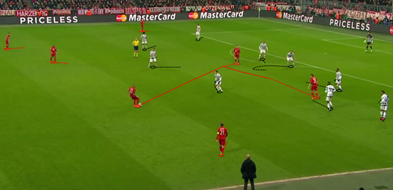 When Alonso went off and Juventus' pressing dropped, Vidal moved deeper and had more space to work in within midfield - and unsurprisingly his performance improved from that point onwards.