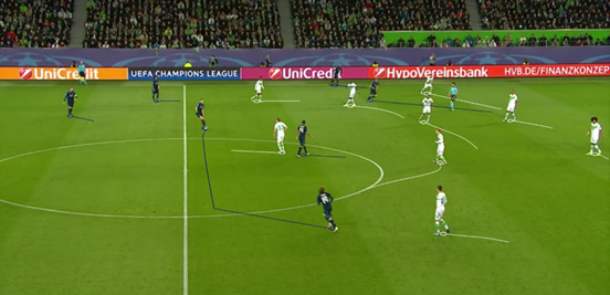 Wolfsburg's 4-1-4-1 shape out of possession proved to be very effective throughout the game, and they kept great discipline in maintaining it - causing Real Madrid to struggle to break it down.