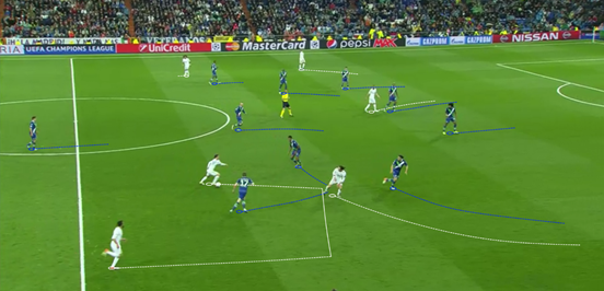 The ability of Modrić to run forward with the ball at his feet is a big asset when it comes to progressing play and dragging opposition midfielders away from their original positions.