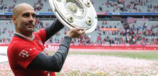 Three Bundesliga titles in three consecutive seasons is an achievement that's only ever been done twice before - and that treble helped Guardiola's total number of trophies gained at Bayern reach seven.