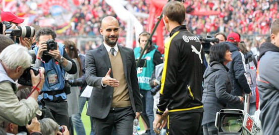 Though Bayern and Dortmund were fierce rivals in the search for domestic success this season, Guardiola and Tuchel are known to have a relationship full of admiration for one another.
