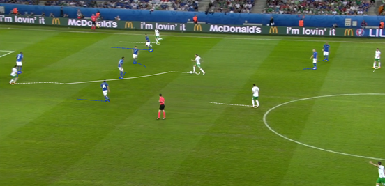 Whenever Hendrick got the chance to drive forward with the ball he did, helping to keep a certain intensity about Ireland's play and giving a different, direct threat for Italy to be wary of.