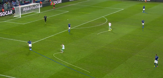 Ireland's front players worked tirelessly to make Italy's ball progression more difficult, and they often managed to force the Azzurri to move possession out to the wings rather than allowing it to go through the middle of the pitch.