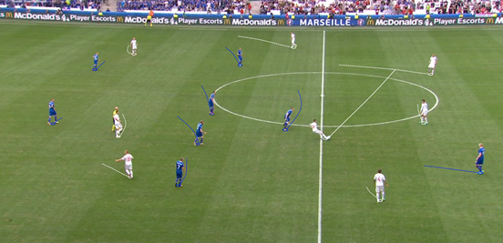 Iceland reacted well to Hungary's circulation of the ball, heir ball-orientated movement being good and forcing them to build away from the centre of the pitch.