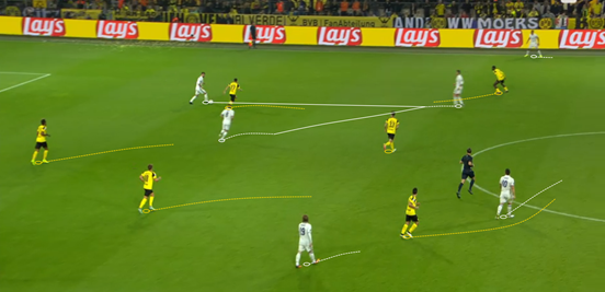 By regularly dropping deep when Real Madrid were trying to build play from the back, Ronaldo gave easy passing options – and an extra body that Dortmund couldn't always cover properly – which allowed them to move possession round a little more smoothly.
