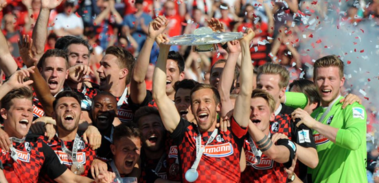 Freiburg were the 2. Bundesliga champions in 2015/16, the fourth time which they've won the trophy (and the fifth time they've been promoted to the top-flight).