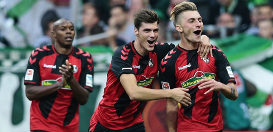 22-year-old Maximilian Philipp (right) is Freiburg's top scorer so far this season, as well as the highest-scoring German in the Bundesliga with five goals. If their good form continues then he's likely to be an important reason why.