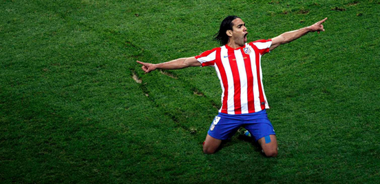 Falcao was Atlético's hero in a number of big European moments.