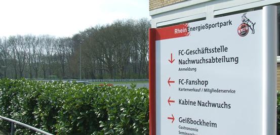 FC Köln's training ground, the RheinEnergieSportpark, on a sunnier day.