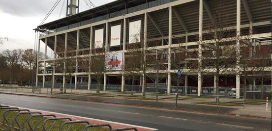 The RheinEnergieStadion, home of FC Köln.
