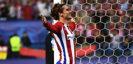 Antoine Griezmann was the scorer of the only goal in the first leg between Atleti and Leicester, converting the (dubious) penalty which he won.