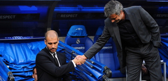 The relationship between Guardiola and Mourinho during their years in charge of Spanish football's two biggest clubs was, it's fair to say, not particularly great.