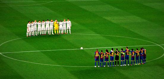 It's El Clásico. Barcelona vs. Real Madrid.