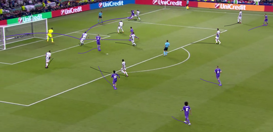 Modrić was arguably the best player on the pitch during the final, and his assist for the third goal of the night was a superb cross.