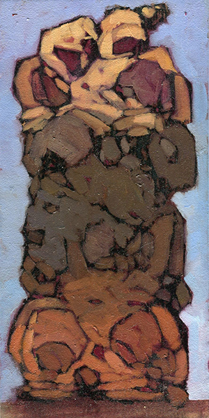 Skin (Sketch) , 3x6 inches, oil on board.