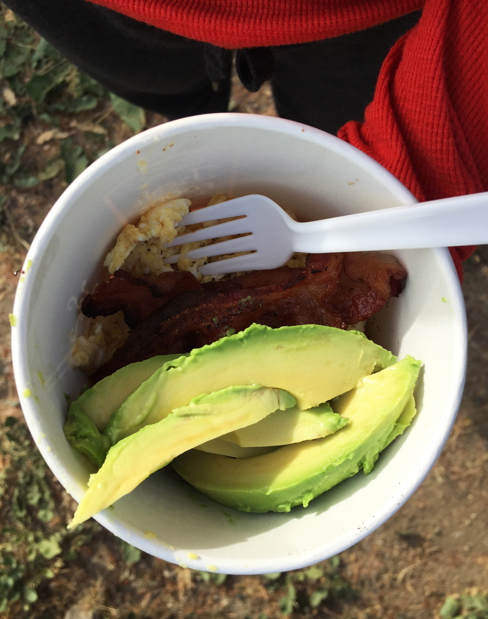 Camping Breakfast in San Clemente