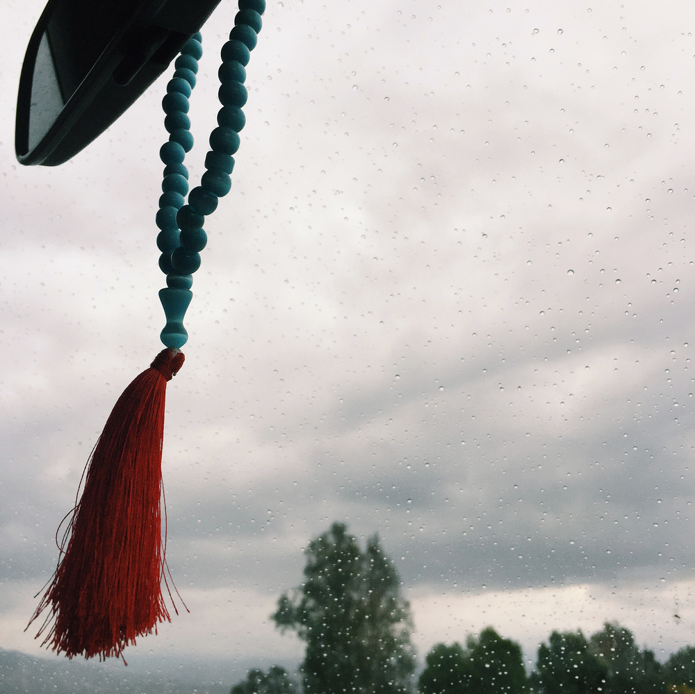 Prayer beads keep us safe on the road