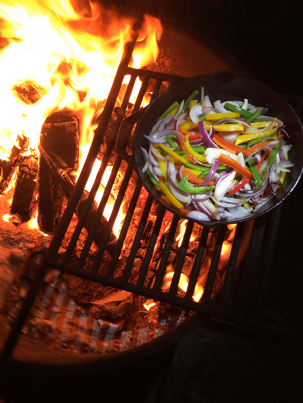 Roasting Veggies in Big Bear, CA