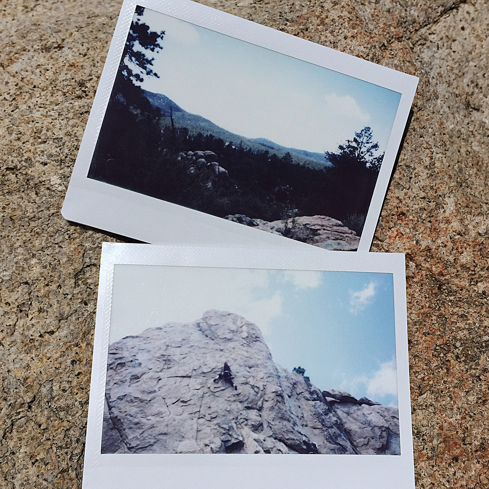 Polaroid shots in Big Bear, CA