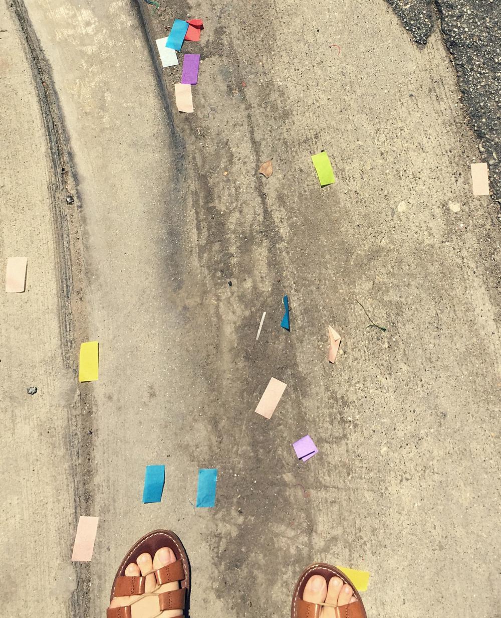 Confetti at the Long Beach, CA Pride Festival