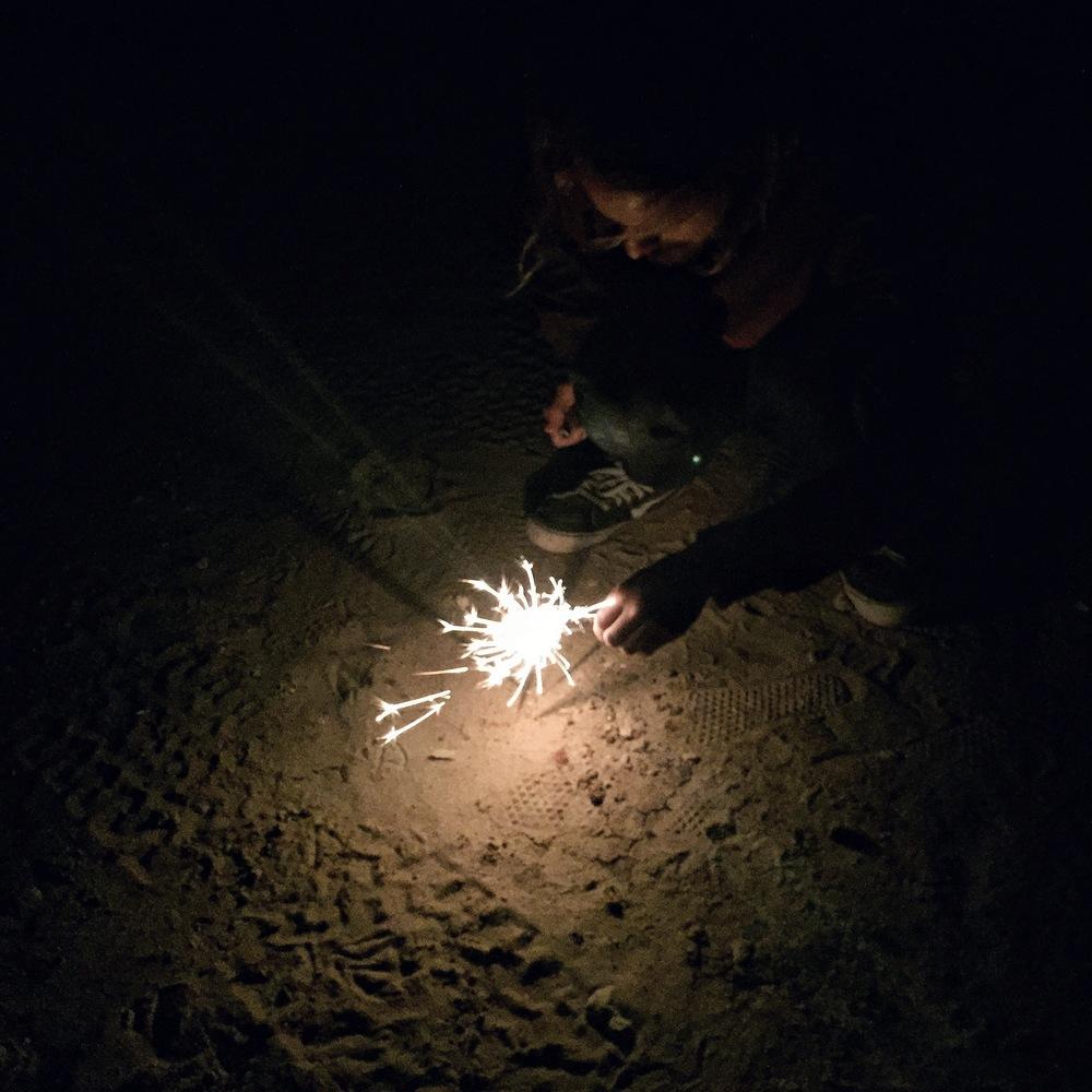 Sparklers in Rosarito, Mexico