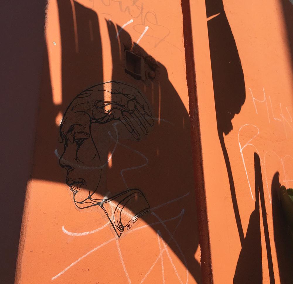 Shadows in Venice Beach, CA