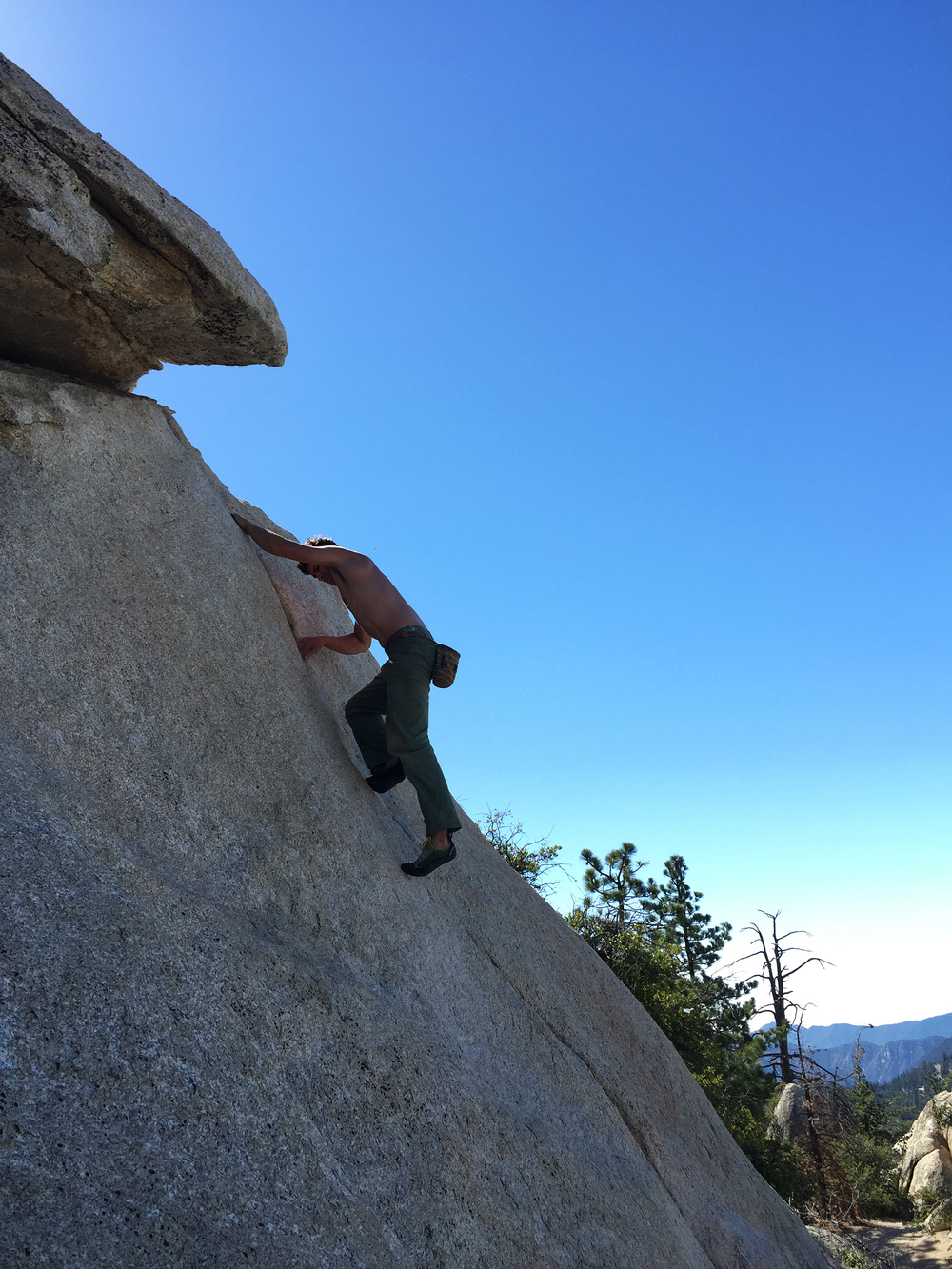 Climbing in Horse Flats Campground in the Angeles National Forest