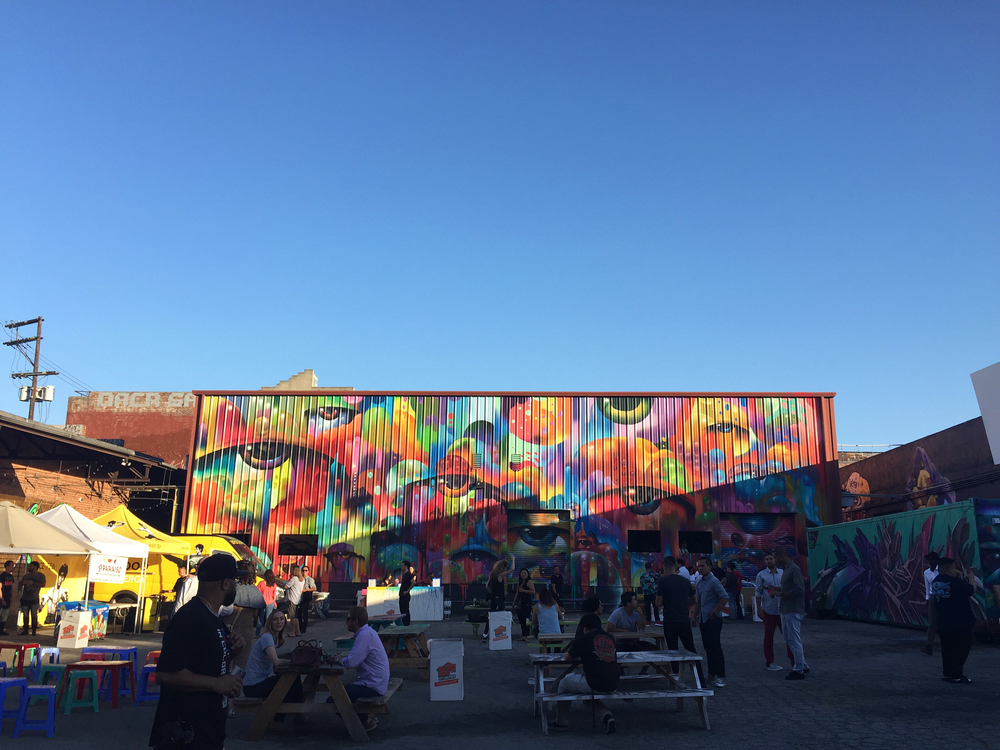 Perfect summer night at The Container Yard, LA