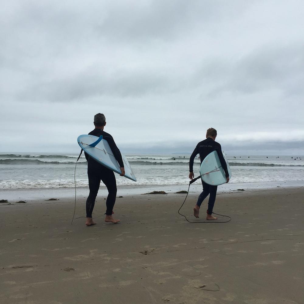 Surfing in Ventura, CA