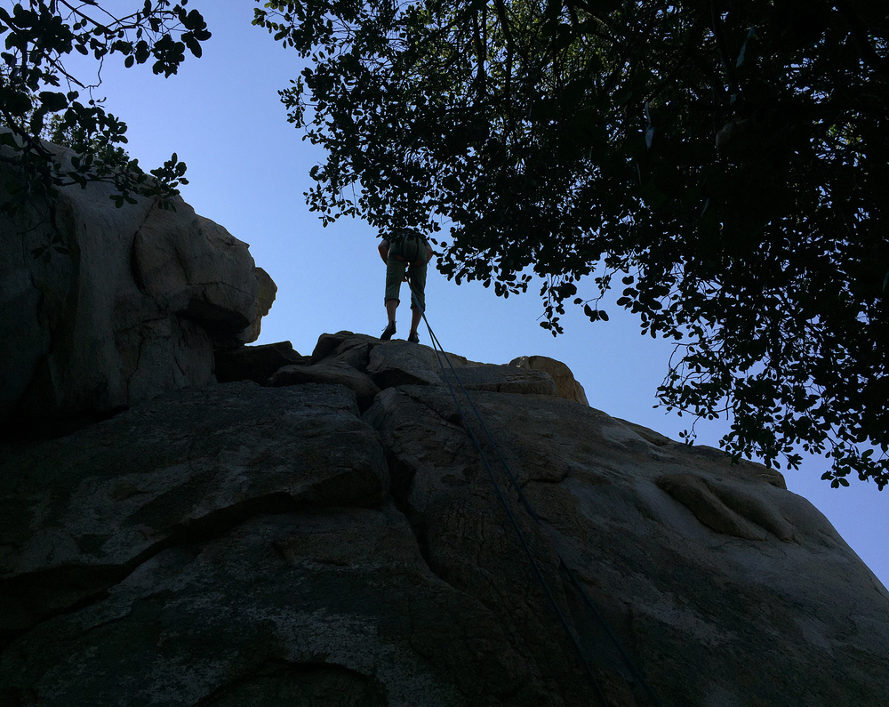 Climbing in Dixon Lake, Escondido