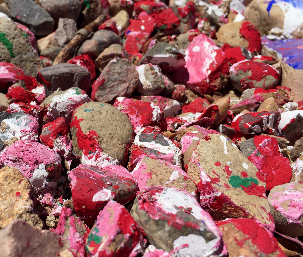Painted rocks in Malibu, CA