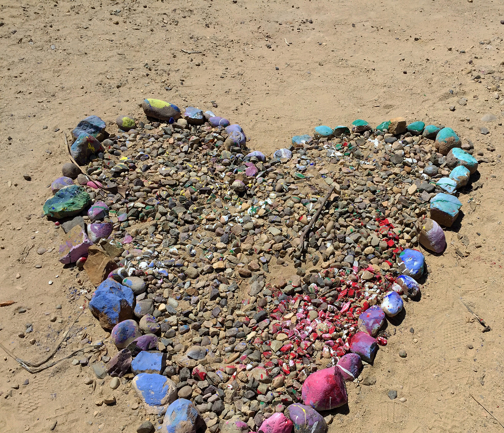 Heart of rocks in Malibu, CA