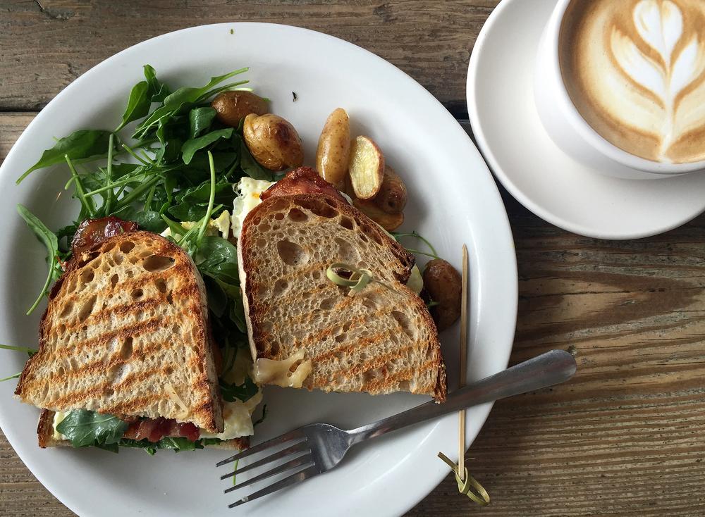 Breakfast Sandwich at Malibu Farm in Malibu, CA