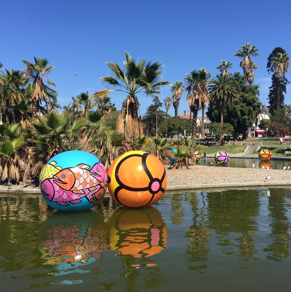 Spheres at MacArthur Park, Los Angeles