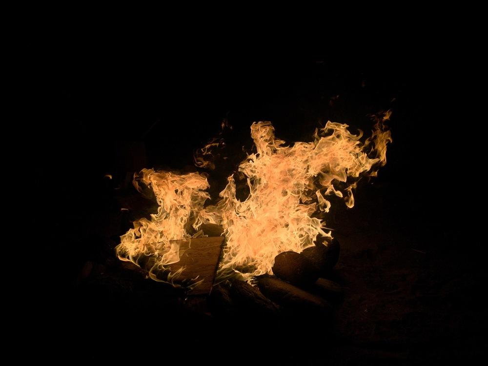 Campfire in Baja Norte, Mexico