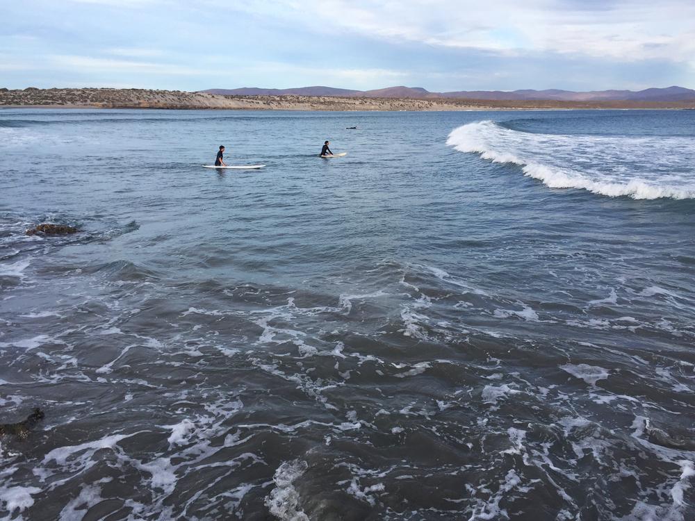 Surfing in Baja Norte, Mexico