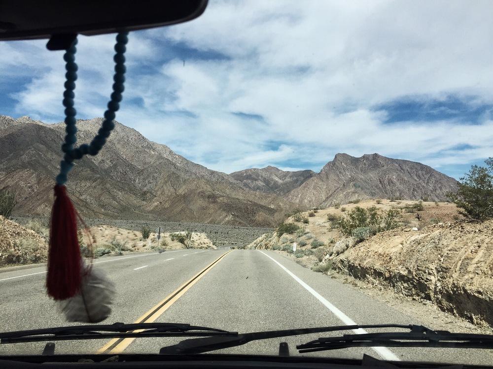 Driving through Anza Borrego National Park