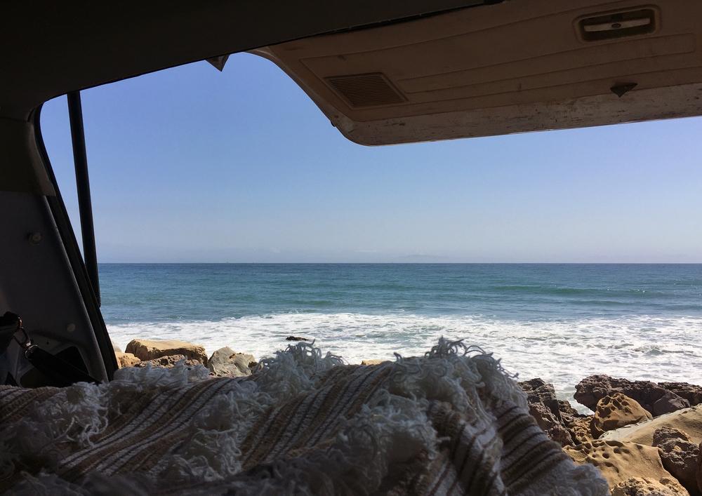 Van Life at Faria Beach in Ventura, CA