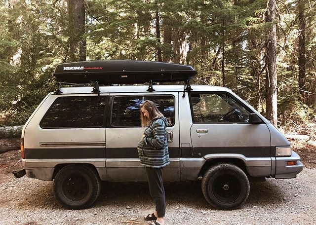 Pregnant #vanlife / besides having to get up to pee in the middle of night a million times / it was a successful #babymoon