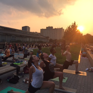 Yoga on the Pier. September 1, 2015