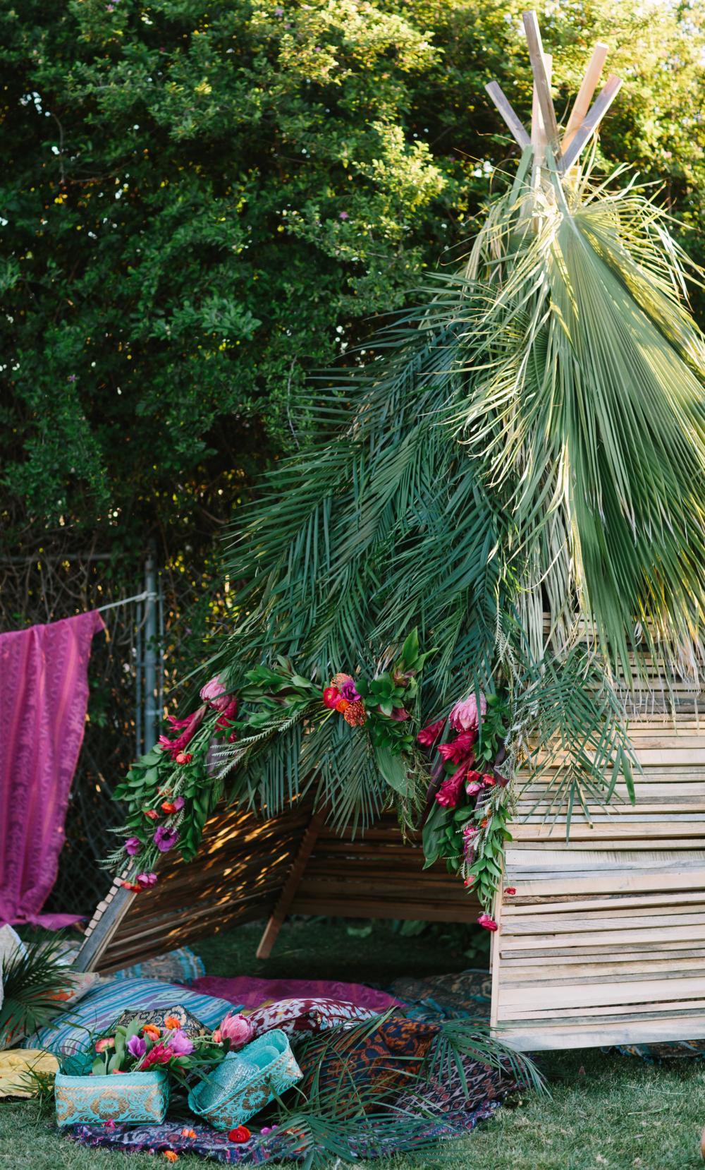 Custom Backyard Teepee | Cleobella Photoshoot. Photo | Taryn Kent