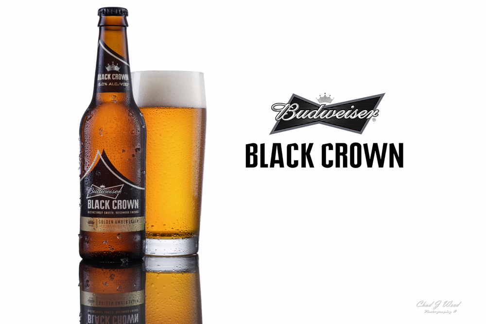 Budweiser Black Crown Beer Ad by Arizona Commercial Photographer Chad J Weed. www.chadjweed.com