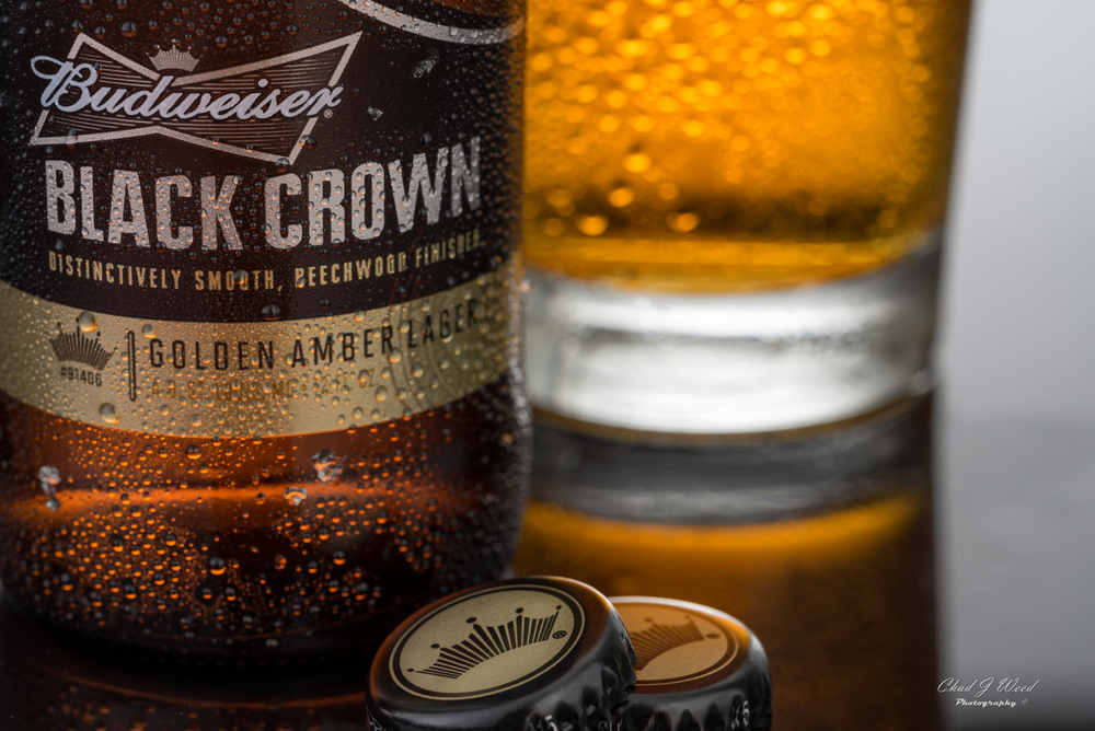 Editorial shot of Budweiser's Black Crown Beer. www.chadjweed.com Arizona Commercial Photographer