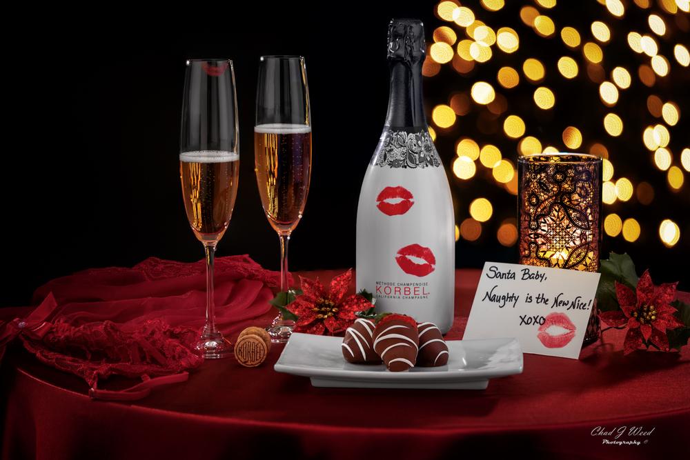 Korbel Champagne Brut Rose Romance Christmas