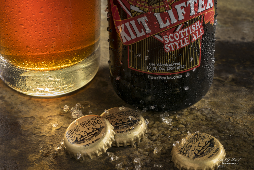 Four Peaks Brewery Kilt Lifter Beer by Arizona Commercial Photographer Chad J Weed