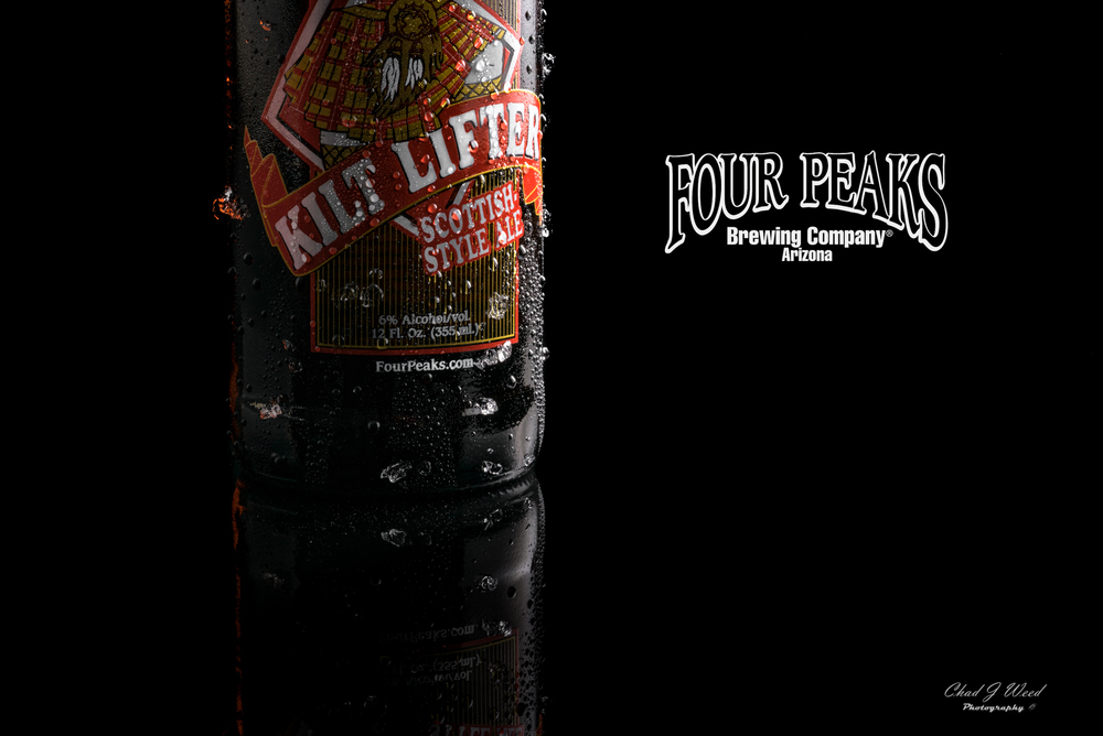 Kilt Lifter Scottish Style Ale by Four Peaks Brewery. Arizona Commercial Photographer Chad J Weed