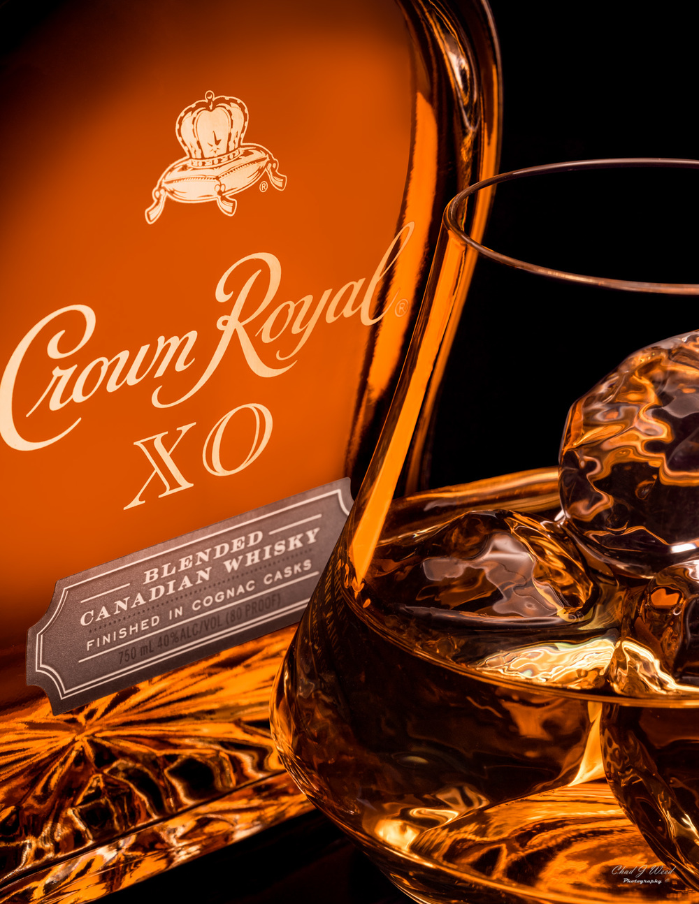 Crown Royal XO Whiskey by Arizona Commercial Beverage Photographer Chad J Weed