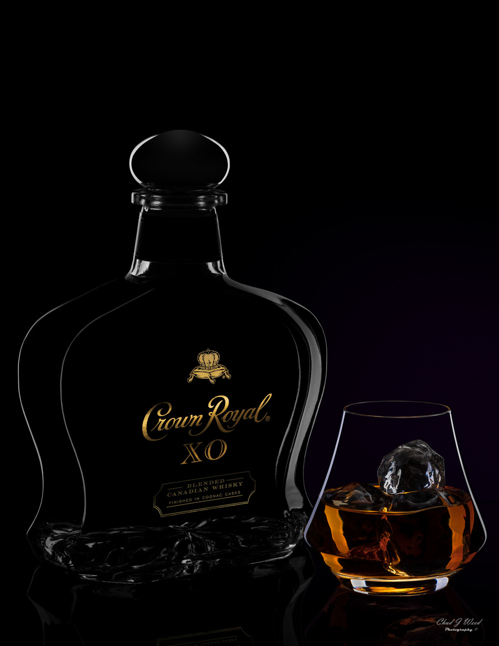Crown Royal XO Whisky by Arizona Commercial Beverage Photographer Chad J Weed